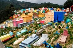 The Colorful Cemeteries of Guatemala, chichicastenango-cemetery  Scattered throughout the countryside of Guatemala are cemeteries that feature tombstones painted as colorfully as possible. Friends and family members paint them using the favorite color of the departed as a way of honoring and remembering the dead. Some of these cemeteries, especially those in the departments of Solóla, Chichicastenango and Xela (Quetzaltenango), have became tourist attractions.