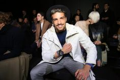 White Fendi Coat - One of my outfit at the Milan Fashion week. Check out all the looks from MMFW 2015 Mdvstyle Upscale Menswear, Mdv Style, Street Style Magazine, Silk Pjs, Silver Money Clip, Messenger Bag Men, My Outfit, Men Casual