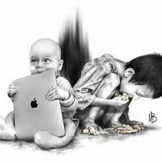 Wealthy vs Poverty.