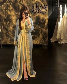 Modern Hijab Fashion, Abaya Fashion, Muslim Fashion, Fashion Dresses, Morrocan Dress, Moroccan Caftan, Kaftan Designs, Indian Party Wear, Caftan Dress
