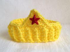Wonder Woman Infant Crochet headband by KissCrochet on Etsy, $10.00