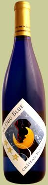 Our Dog Blue from Château Morrisette Winery. Lightly sweet and absolutely refreshing in summertime.