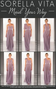 Maid Your Way | Mix up looks to match each bridesmaids unique personality #wedding
