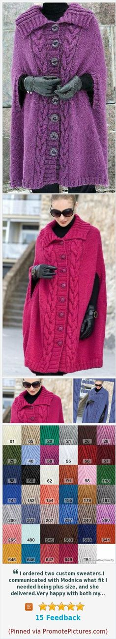 Hand Knit Poncho Chunky knit cardigan Wool Poncho Cape Knit poncho sweater Poncho Wrap Knit Poncho Sweater Oversized Knit fur coats women https://www.etsy.com/Modnica/listing/587639665/hand-knit-poncho-chunky-knit-cardigan?ref=shop_home_active_8  (Pinned using https://PromotePictures.com)