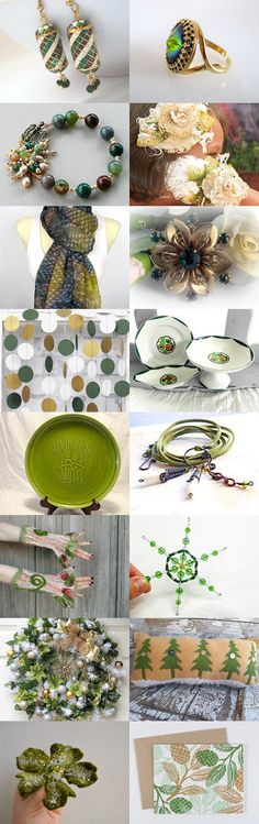 Winter Greens by Carla on Etsy--Pinned with TreasuryPin.com