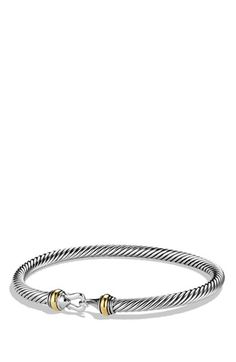 David Yurman 'Cable Buckle' Bracelet with Gold available at #Nordstrom
