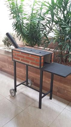 Gas Grill On Wood Deck – Deck for Houses Outdoor Kocher, Outdoor Stove, Rocket Stoves, Camping Stove, Outdoor Living, Outdoor Decor, Outdoor Cooking, Backyard, House Design