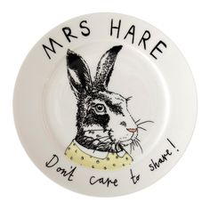 Discover+the+Jimbobart+'Mrs+Hare+don't+care+to+share'+Side+Plate+at+Amara