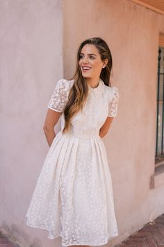 Pastel themed outfits for women this spring. Modest Dresses, Modest Outfits, Modest Fashion, Pretty Dresses, Casual Dresses, Fashion Dresses, Modest Clothing, Jean Outfits, Casual Wear
