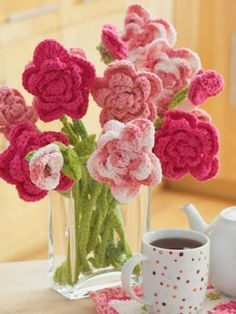 Free Crochet Pattern: Rose Bouquet