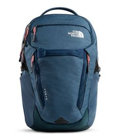 Women's The North Face Surge Backpack Back to School North Face Women, The North Face, Commuter Bag, Camping Packing, Blue Wings, Backpack Brands, Laptop Backpack, North Face Backpack, Laptop Sleeves