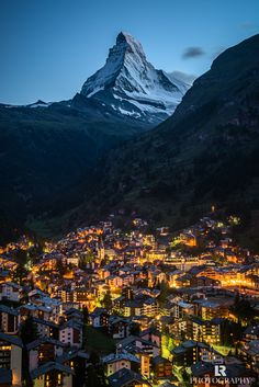 Matterhorn, village of Zermatt - Switzerland