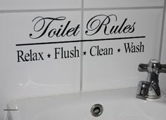 Toilet Rules
