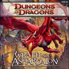 Wrath of Ashardalon: Board Game [With Rulebook & Adventure Book and Die and 200 Encounter, Monster & Treasure Cards and Ma Fun Games, Games To Play, Playing Games, Dungeon Tiles, Cooperative Games, Games Images, Wizards Of The Coast, Tabletop Games, Monster