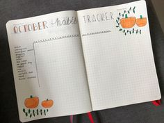 October Bullet Journal Setup - chxrlotterose Bullet Journal Set Up, Bullet Journal Layout, Bullet Journel, Journal Prompts, Journals, October, Lettering, Writing, How To Plan