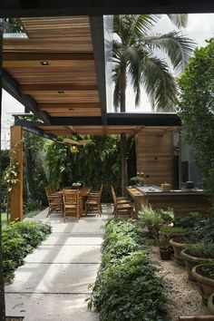 Summer style!! Outdoor garden covered walkway and terrace, veranda patio deck!