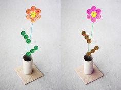 Como hacer flores con botones reciclados (1)