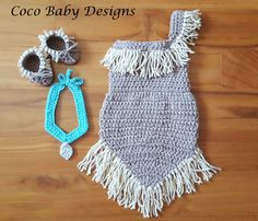 Pocahontas Inspired Crochet Baby Outfit  Great by CocoBabyDesigns