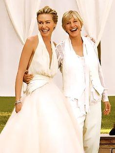Portia de Rossi's wedding dress by Zac Posen