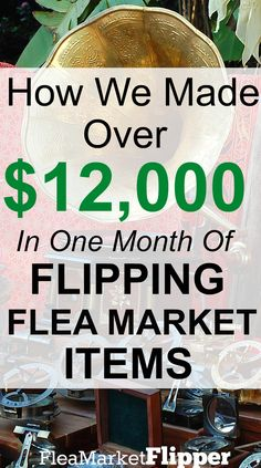 The totals for last month are in! It was a great month to be a flea market flipper. Do you love visiting flea markets, yard sales and thrift stores? Thrift Store Crafts, Thrift Store Finds, Flea Market Finds, Flea Markets, Thrift Stores, Flea Market Booth, Dollar Stores, Earn Money From Home, Make Money Fast