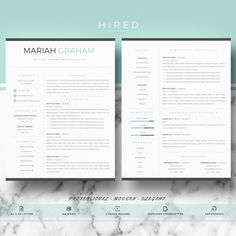 Resume Template Creative Resume Template Two Page Par Introduice