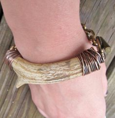 Real Deer Antler Bracelet Wire Wrapped Bracelet Rustic Jewelry A Game of Thrones…