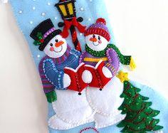 Media de la Navidad Bucilla acabado media mano por HometownUSA