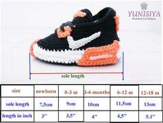 Yellow Crochet Baby Sneakers cute baby shoes Crochet by Yunisiya