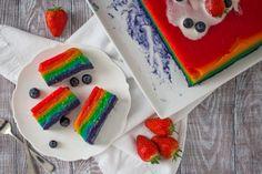 Steamed Rainbow Rice Cake