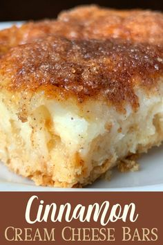 yummy desserts The cinnamon-sugar topping on Cinnamon Cream Cheese Bars reminds me of an elephant ear or churros. This dessert bar recipe is much easier to make at home with crescent roll dough and has a layer of cream cheese for extra goodness! Smores Dessert, Easy Dessert Bars, Dessert Simple, Dessert Healthy, Taco Dessert, Quick Dessert, Breakfast Healthy, Breakfast Muffins, Breakfast Dessert