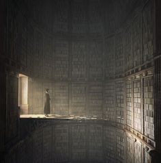 Jie Ma brings visions of imagined library landscapes to life.