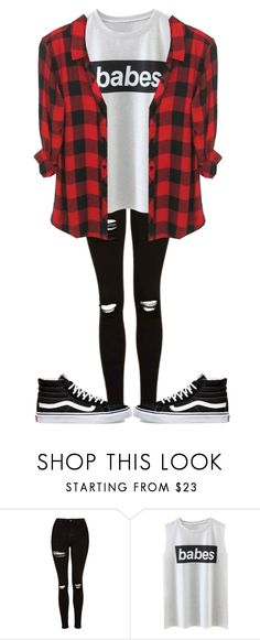 """ b a b e s "" by sydthekyd01 on Polyvore featuring Topshop and Vans"