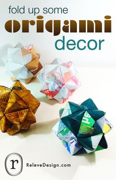 Fold up some geometric origami for chic decorative accessories.