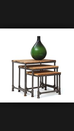 I love nesting tables. That they are steampunkish only makes them better.