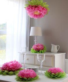 Light Pink Flower Pom Set | zulily
