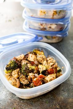 Easy Italian Chicken Meal Prep Bowls: Brown rice, zucchini, broccoli, tomatoes, and red onion, as well as deliciously seasoned chicken all cooked on a sheet pan for low mess, big flavor, meal prep! About a month ago I shared a recipe for Greek Chicken Meal Prep Bowls, and apparently it struck a cord with a...Read More »