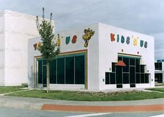 Safetyville, 1994-95. Telephone switching building, Toys-R-Us/Kids-R-Us