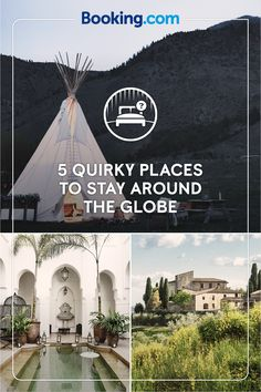 Where will you go with Booking.com? You'll find way more than hotels! How about an exotic riad in Morocco? Or a closer-to-home Dreamcatcher Tipi in Montana? From ryokans in Japan to villas in Italy, we have over one millions properties worldwide, waiting for your next adventure.