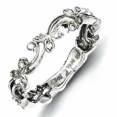 Sterling Silver Diamond Ring - by Samuels Jewelers