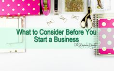 My one on one chat with you on things to consider before you decide to start your own business.