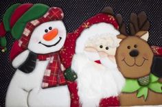 cuadro navideño paar luces Christmas Fabric, Felt Christmas, Christmas Signs, Xmas, Christmas Ornaments, Glass Blocks, Fabric Decor, Bowser, Reindeer