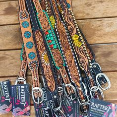 Cute Dog Collars, Custom Leather Dog Collars, Leather Tooling Patterns, Loyalty Tattoo, Leather Jewelry, Leather Bracelets, Leather Projects, Dog Accessories, Tooled Leather