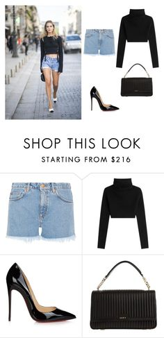 """""""it is just a good style in the new york street"""" by rosela-1 on Polyvore featuring M.i.h Jeans, Valentino, Christian Louboutin and DKNY"""