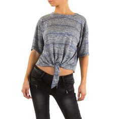 Perfekt im Sommer: Dieses luftig leichte Stretch Crop Top mit Bindeband lässt sich toll zur Shorts kombinieren.