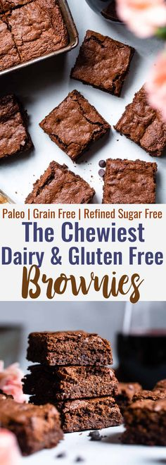 gluten free dairy free dessert Easy Gluten Free Dairy Free Brownies -These grain free, healthy browniescome together in less than an hour and are SO dense, chewy and FUDGY! Paleo friendly, gluten and dairy free and SO delicious! Dairy Free Bread, Dairy Free Snacks, Dairy Free Breakfasts, Gluten Free Sweets, Gluten Free Baking, Gluten And Dairy Free Desserts Easy, Healthy Gluten Free Snacks, Dairy Gluten Free Dessert, Gluten Free Grains