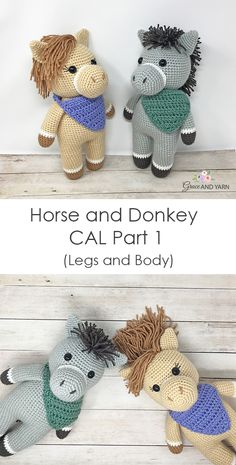 Crochet Horse and Donkey Pattern Part 1 of our free Horse and Donkey CAL (crochet-a-long) is live! Here we will make the legs and body. Step by step instructions, photos and a left and right handed video tutorial are provided! Hope to see you there! Crochet Unicorn Pattern, Crochet Horse, Crochet Patterns Amigurumi, Crochet Beanie, Crochet Yarn, Free Crochet, Double Crochet Decrease, Horse Pattern, Stuffed Animal Patterns