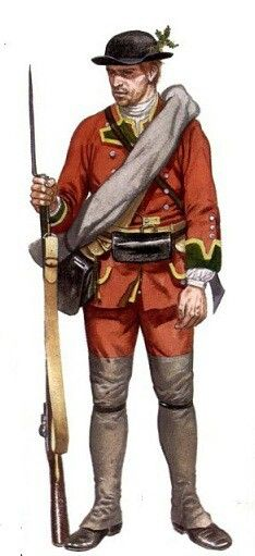 55th regiment of foot.  Field uniform north America FIW