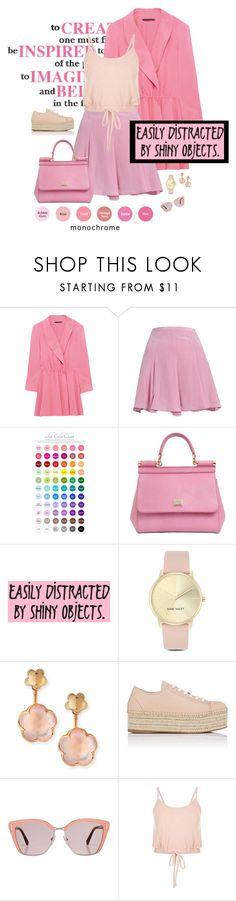 """2017: Monochrome Pink"" by rockerchick21 ❤ liked on Polyvore featuring ANNIE, Alice + Olivia, Dolce&Gabbana, Nine West, Pasquale Bruni, Miu Miu and Prada"