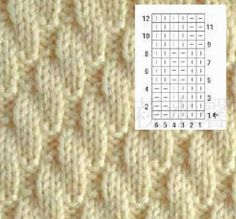 Free knitting instructions: Small rectangle scarf (knitting-and-so-o…) Knit Purl Stitches, Knitting Stiches, Knitting Charts, Lace Knitting, Knitting Socks, Baby Knitting Patterns, Knitting Designs, Stitch Patterns, Diy Crafts Knitting