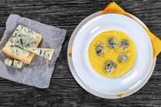 creamy thick polenta with melted gorgonzola